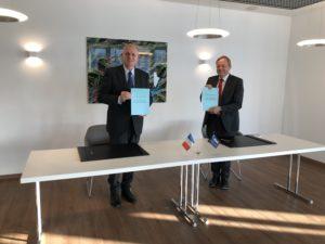 Signature du contrat ESERO France en juin 2020
