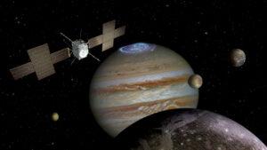 Illustration de la sonde spatiale européenne JUICE